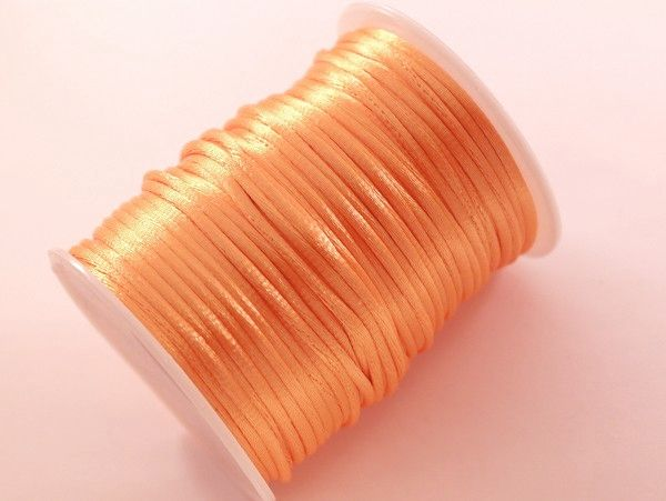 Orange satinband 3mm
